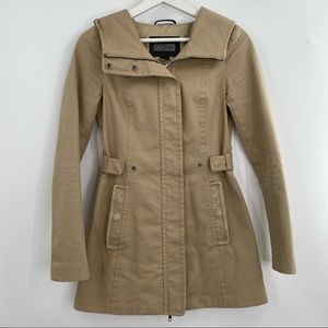 Mackage spring tan coat with leather pockets